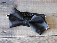 Load image into Gallery viewer, Personalised Gold Tipped Diamond Bowtie.