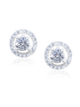 Halo solitaire twin studs