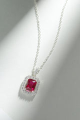 Timeless Ruby Pendant (With chain)
