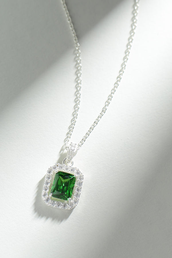 Emerald Green Pendant (With Chain)