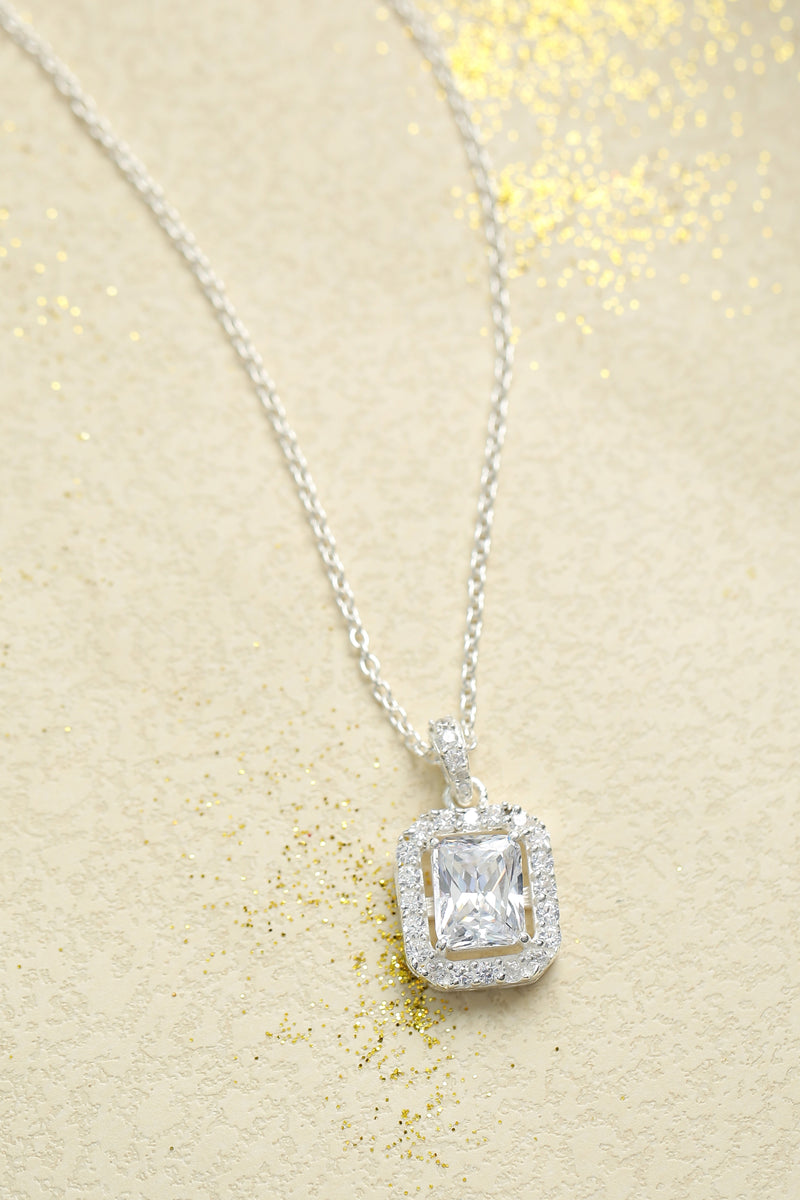 Quad Crystal Necklace (with chain)