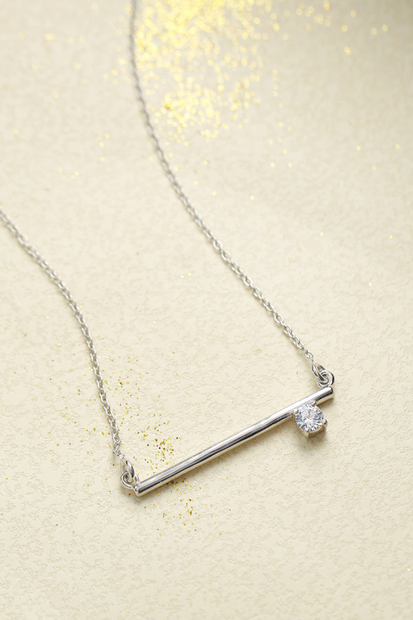 Horizontal Bar Necklace (with chain)