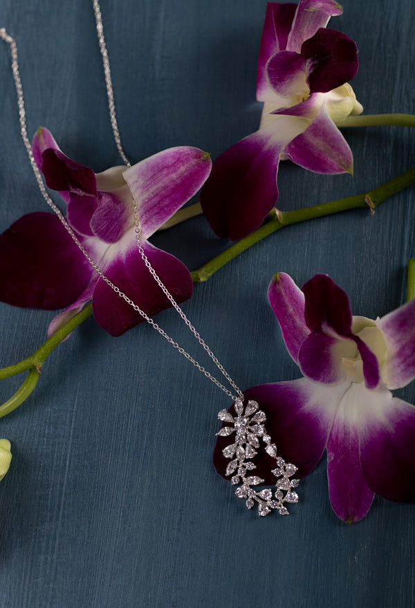 The Floret Vine Pendant (With Chain)