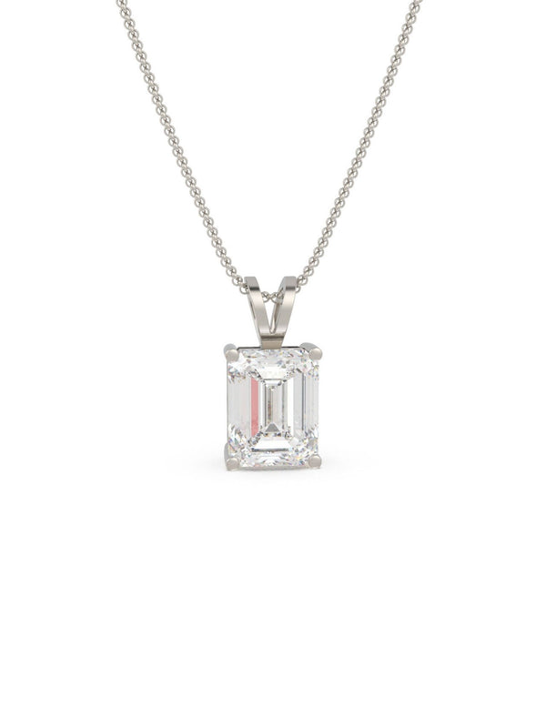 Rectangle Dazzle Pendant ( With Chain )
