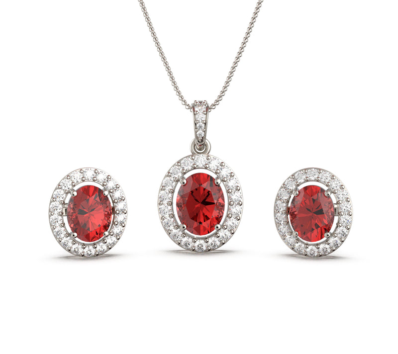 Elegance Ruby Set (With Chain)