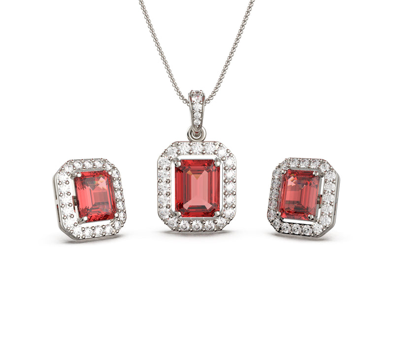 Timeless Ruby Set (With Chain)
