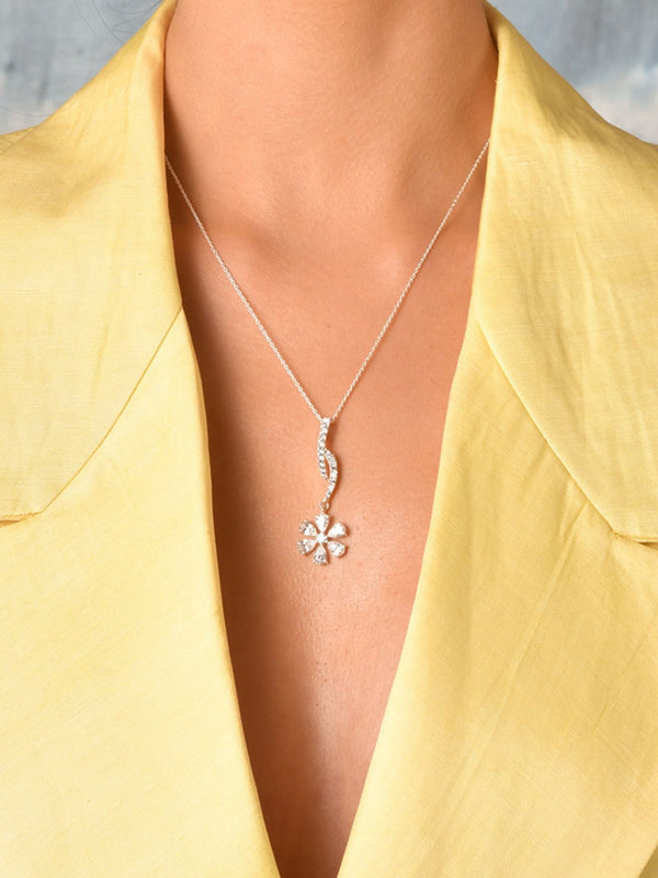 Flower Dangler Pendant (With Chain)
