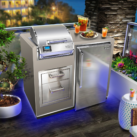 ELECTRIC GRILL ISLAND BUNDLE WITH REFRIGERATOR By Fire Magic Grills - Ace home goods