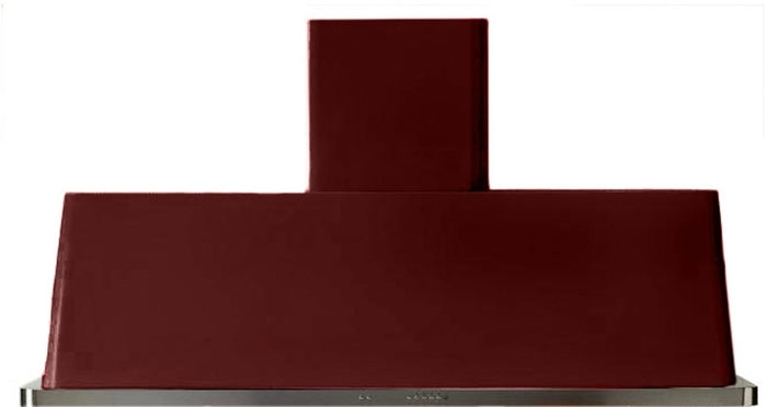 60 Inch Burgundy Wall Mount Convertible Hood By ILVE - Ace home goods