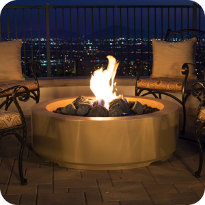 48″ LOUVRE ROUND FIRE PIT By American Fyre Designs - Ace home goods