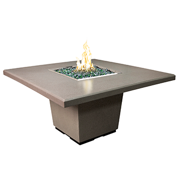 Cosmopolitan Square Dining Height Fire Table By American Fyre Designs - Ace home goods