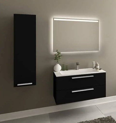 Elke 48″ Black Acrylic Bathroom Vanity By Casa Mare - Ace home goods