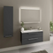 Elke 48″ Glossy Gray Acrylic Bathroom Vanity By Casa Mare - Ace home goods