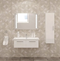 Aspe 40″ Glossy White Ceramic Bathroom Vanity By Casa Mare - Ace home goods