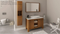 Pageo 48″ Light Oak Acrylic Bathroom Vanity By Casa Mare - Ace home goods
