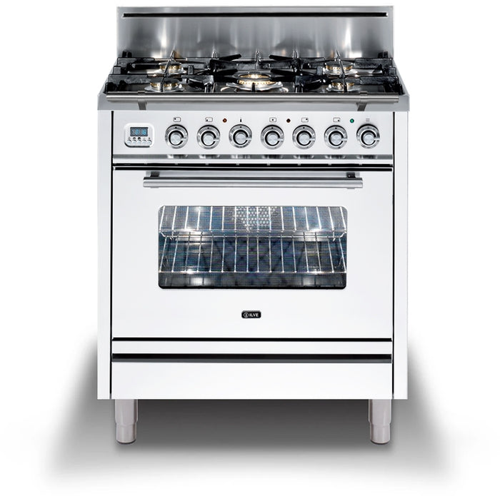 30 Inch White Liquid Propane Freestanding Range Professional Plus Series By ILVE - Ace home goods