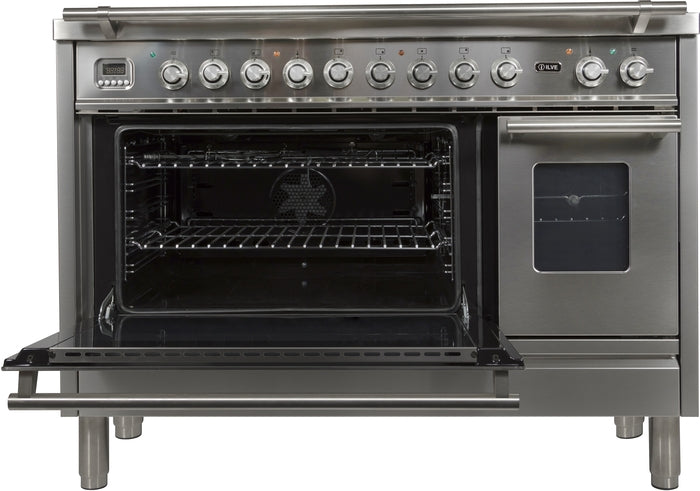 48 Inch Stainless Steel Dual Fuel Natural Gas Freestanding Range Professional Plus Series By ILVE - Ace home goods