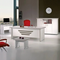New Star Modern Home & Office Furniture 71″ White and Metalic Gray By Casa Mare - Ace home goods