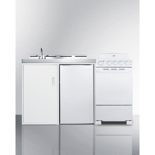 "60"" Wide All-in-One Kitchenette with Electric Coil Range By Summit - Ace home goods"