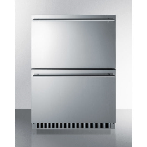 "24"" Wide 2-Drawer All-Refrigerator, ADA Compliant By Summit - Ace home goods"