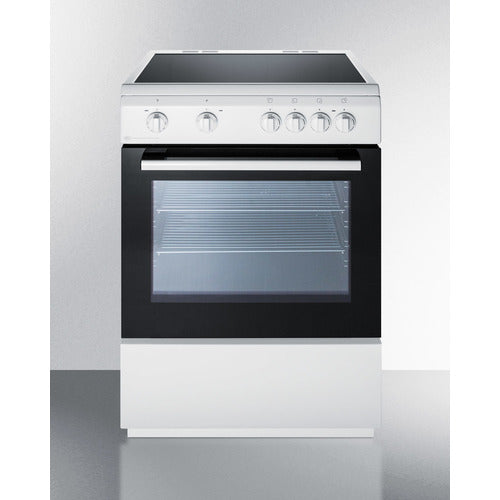 "24"" Wide Smooth Top Electric Range W/ Modern Finish By Summit - Ace home goods"