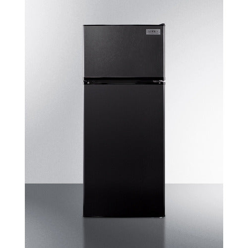 "24"" Wide Top Mount Refrigerator-Freezer W/ Black Finish By Summit - Ace home goods"