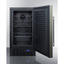 "18"" Wide Built-In All-Refrigerator, ADA Compliant W/ Black Finish By Summit - Ace home goods"