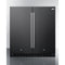 "30"" Wide Built-In Refrigerator-Freezer W/ Black Finish By Summit - Ace home goods"