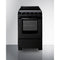 "20"" Wide Electric Smooth-Top Range W/ Black Finish By Summit - Ace home goods"