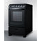 "24"" Wide Electric Smooth-Top Range W/ Black Finish By Summit - Ace home goods"