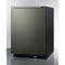 "24"" Wide Built-In All-Freezer W/ Black Finish By Summit - Ace home goods"