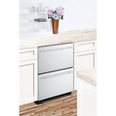 "24"" Wide 2-Drawer Refrigerator-Freezer By Summit - Ace home goods"