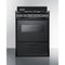 "24"" Wide Gas Range W/ Black Finish By Summit - Ace home goods"