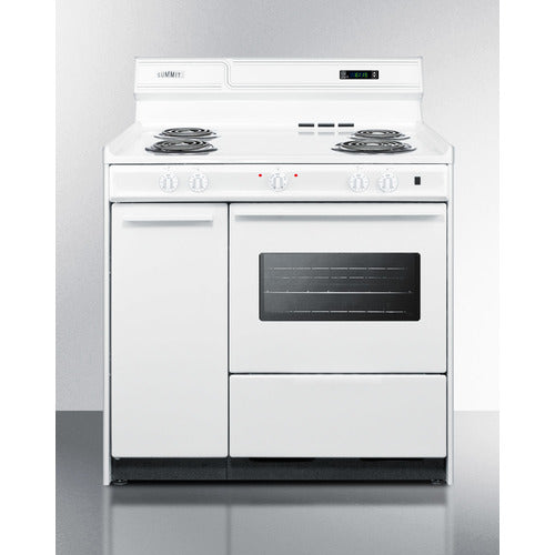 "36"" Wide Electric Coil Top Range By Summit - Ace home goods"