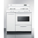 "36"" Wide Gas Range w/ Clear Oven By Summit - Ace home goods"