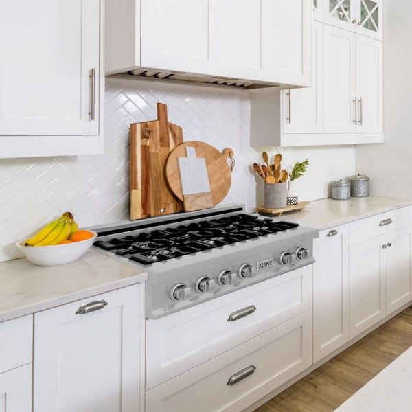 30 IN. PORCELAIN RANGETOP IN DURASNOW® STAINLESS STEEL WITH 4 GAS BURNERS By Zline - Ace home goods