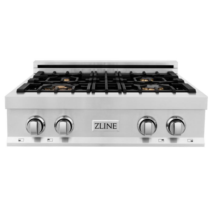 30 IN. PORCELAIN RANGETOP WITH 4 GAS BRASS BURNERS By Zline - Ace home goods
