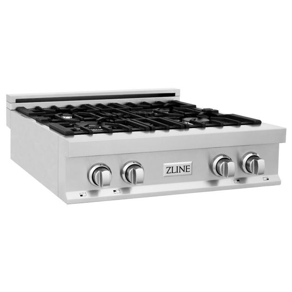 30 IN. PORCELAIN RANGETOP WITH 4 GAS BURNERS By Zline - Ace home goods