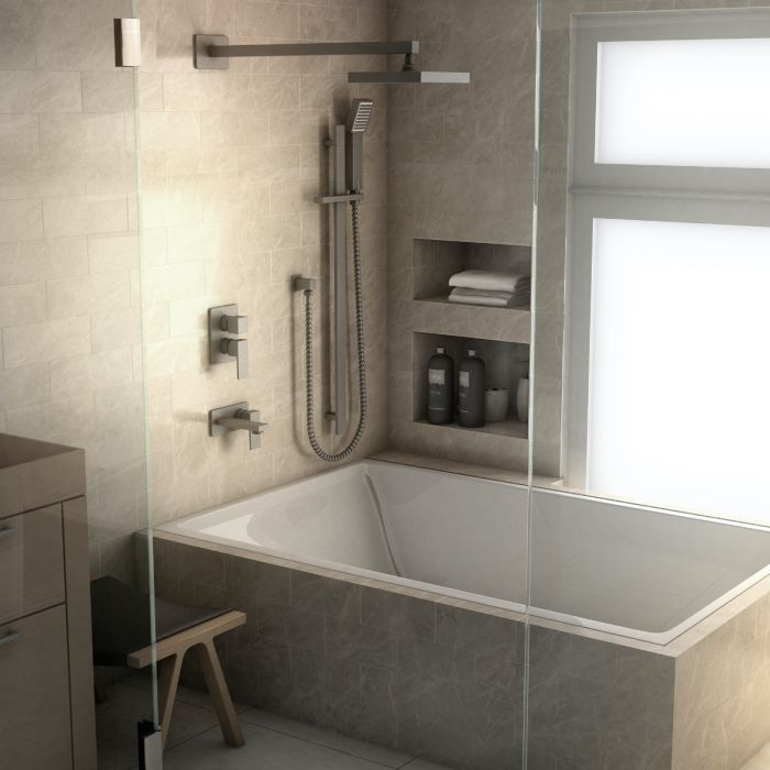 BLISS SHOWER SYSTEM IN GUN METAL By Zline - Ace home goods