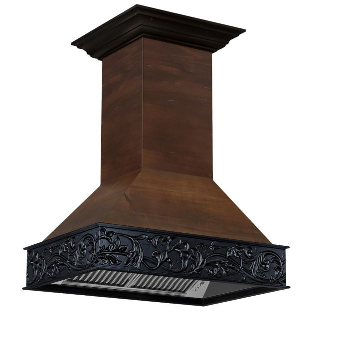 "36"" DESIGNER SERIES WOODEN ISLAND RANGE HOOD WITH CROWN MOLDING By Zline - Ace home goods"