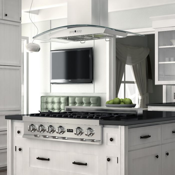 48 IN. PORCELAIN RANGETOP WITH 7 GAS BURNERS By Zline - Ace home goods