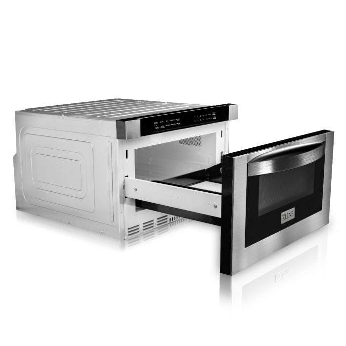 "24"" 1.2 CU. FT. MICROWAVE DRAWER IN STAINLESS STEEL By ZLine - Ace home goods"