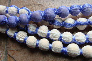 14 feet long! OMBRE COVERED BEADS super long strands purple