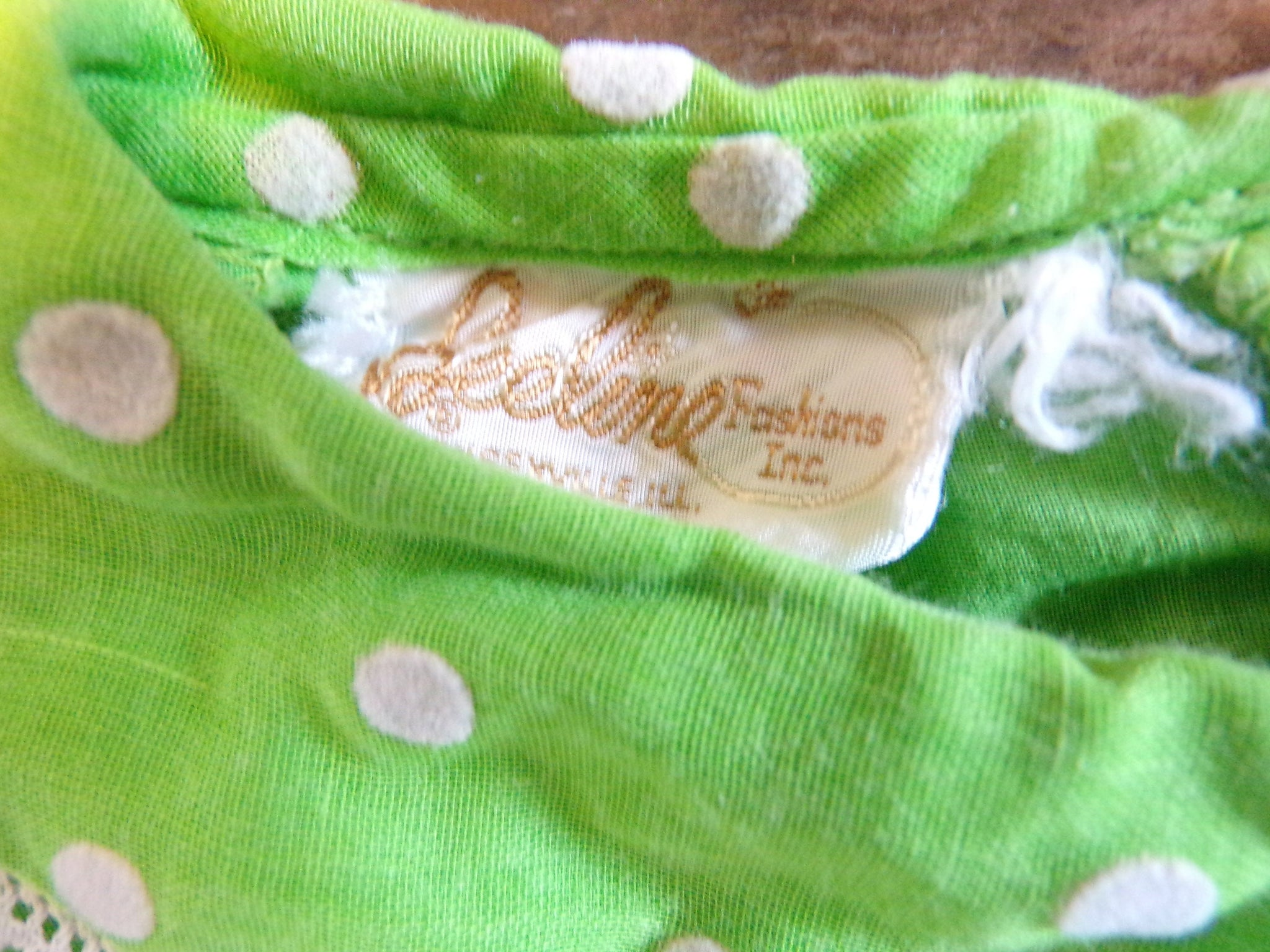 LIME GREEN POLKADOT shift dress Peter Pan collar beeline xs (B4)