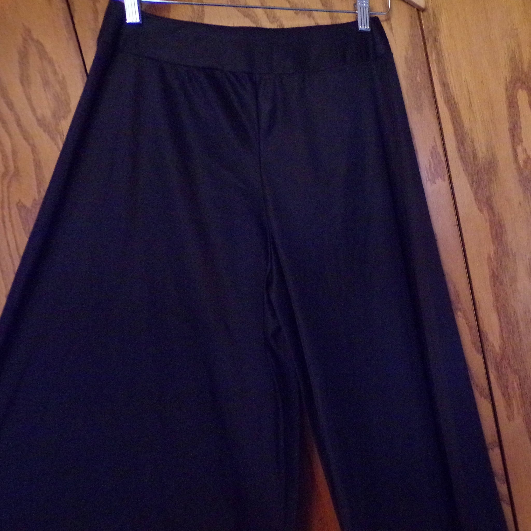 WIDE LEG PANTS lining slip for itchy palazzo black S