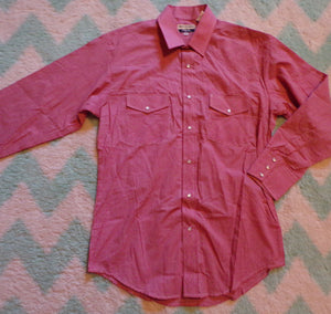 VINTAGE gold collection by ROPER western SHIRT red gingham M (B7)