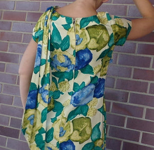 TORI RICHARD HONOLULU fitted floral sateen maxi dress S