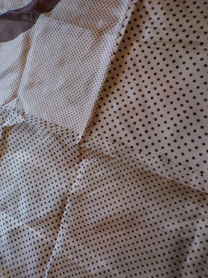 VERA POLKADOT SCARF brown and white square (C6)