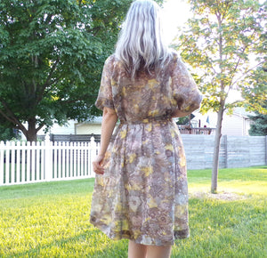 SHEER SUMMER DRESS shirtwaist sears belted xl 39 waist 2X (G6)