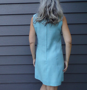 baby blue MOD SHIFT DRESS mini S (A7)